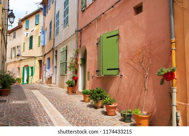 Village Cassis in Provence Cote d'Azur, residential street, typical french village