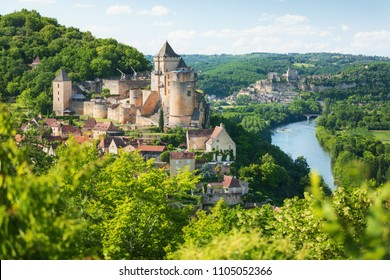 Village of Castelnaud-La-Chapelle in Dordogne department in France
