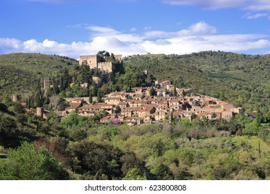 Village of Castelnou in Pyrenees orientales, South of France