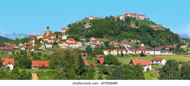The village and castle Riegersburg in Styria / Austria
