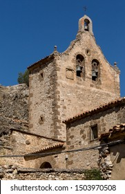 Village of Chaorna and its Church San Miguel Arcángel, province of Soria, Castilla y Leon, Spain