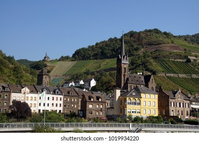 Village church along the  Rhine River, Germany
