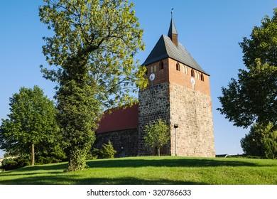 Village church Linthe, Brandenburg, Germany