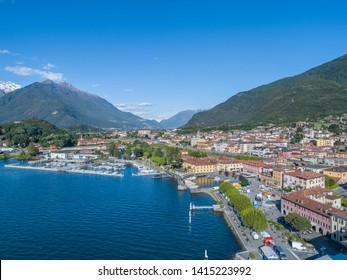 Village of Colico, Como lake in Italy