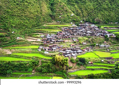 Village in Cordillera mountains, Luzon, Philippines