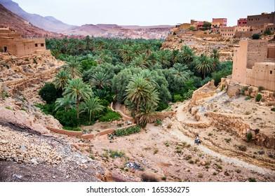 Village in Dades Valley, Morocco