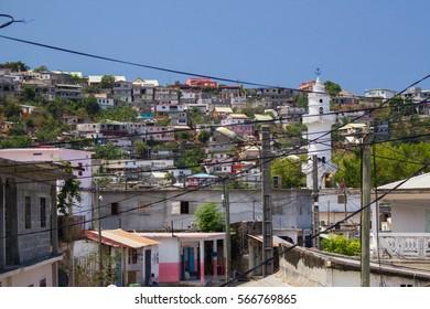 Village de Sada. Mayotte, France, océan Indien