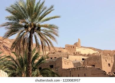 Village in a desert