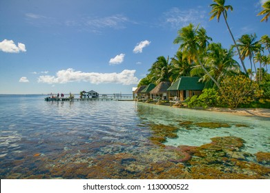 village and diving resort on Fakarava atoll, Tuamotus archipelago, French Polynesia, south pacific,France