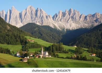 Village in the Dolomites