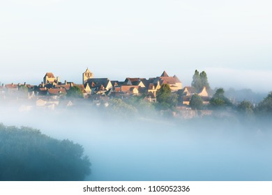 Village of Domme in Dordogne department in France.