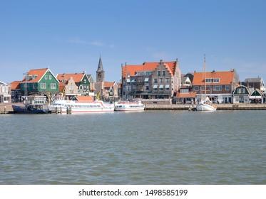 Village of Edam-Volendam at Ijsselmeer,Netherlands