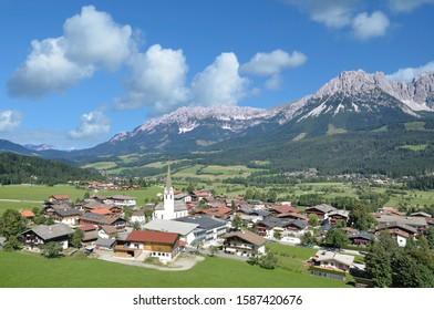 Village of Ellmau am Wilden Kaiser in Tirol,Austria