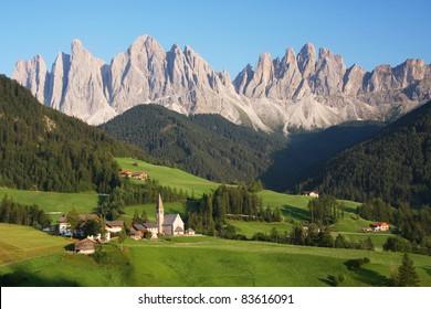 Village in the European Alps