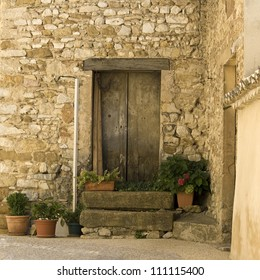 Village french,with old door in Provence.France.