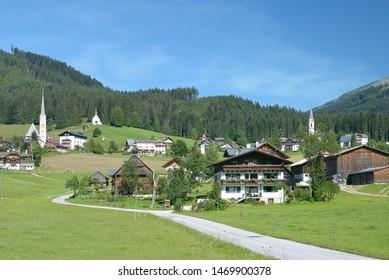 Village of Gosau in Traunviertel,Salzkammergut region,Austria