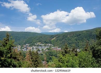 Village of Heimbach in Eifel National Park,North Rhine westphalia,Germany