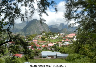 The village of Hell Bourg on the mountains of La Reunion island, France