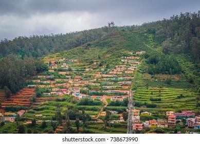 Village in a hill at Nilgiris (Ooty), Tamilnadu, India