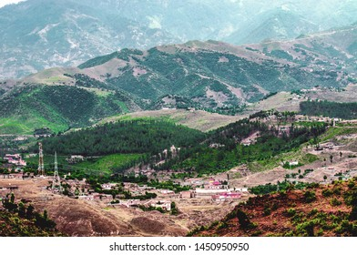 A village in the Hindu Kush mountains in Pakistan