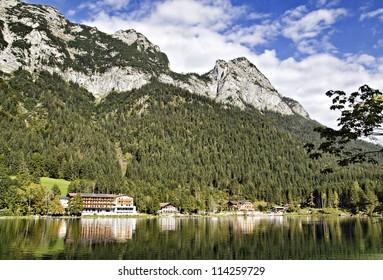 Village at the Hintersee, Berchtesgadener Land, Bavaria, Germany
