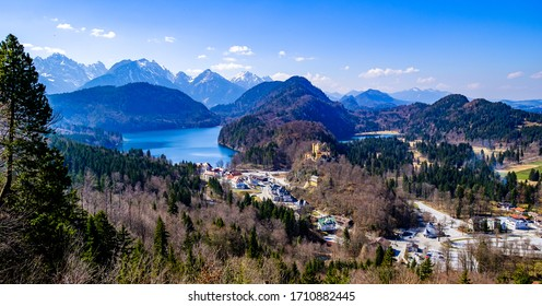 village hohenschwangau - bavaria - and the famous castle from Ludwig II.