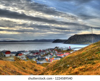 Village of Honningsvag in autumn, Norway