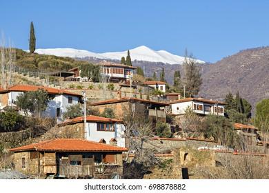Village houses in Birgi, Izmir, Turkey.