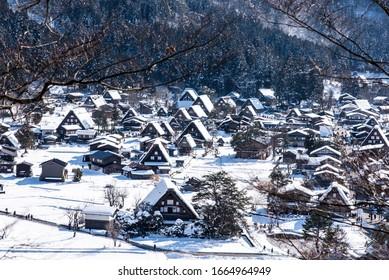 Schneehäuser , Shirakawa-go