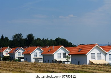 Village with identic houses