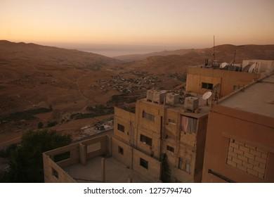 the Village of Karak in Jordan in the middle east.  Jordan, Aqaba, April, 2009