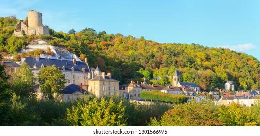 The village of la Roche guyon, Val-d'Oise department, Île-de-France, France