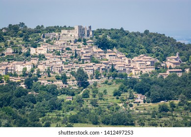 Village Lacoste in Vaucluse, France - with castle of Marquis de Sade