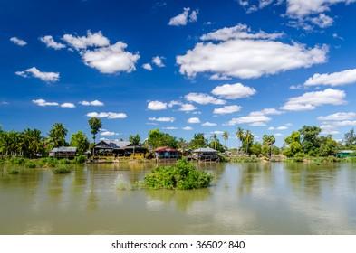 Village in Laos on Don Det island
