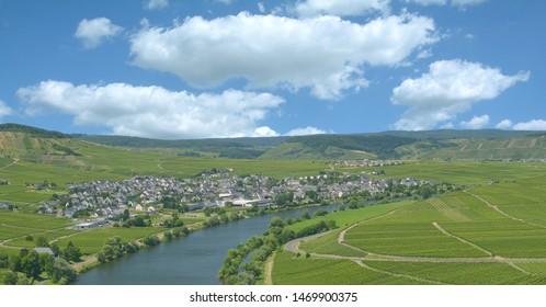 Village of Leiwen in Mosel Valley,Rhineland-Palatinate,Germany