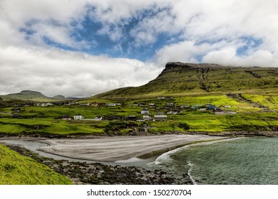 The village Leynar in the Faroe Islands