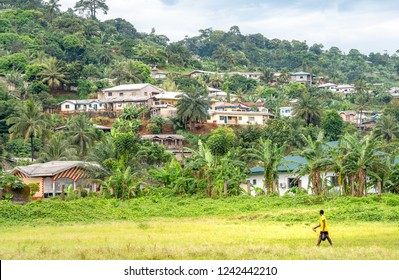 Village of Limbe in Cameroon, west africa. African villagers in Cameroon.