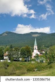 Village of Lohberg (Bayern) in bavarian Forest,Bavaria,Germany