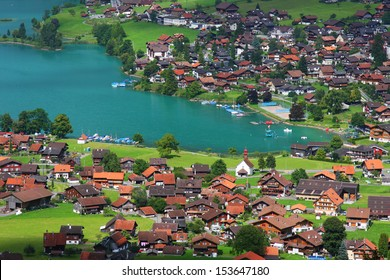 The village of Lungern in Switzerland