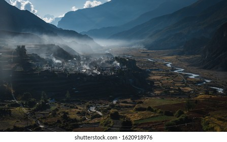 village of manang on the annapurna circuit nepal