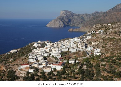 the village Mesochorio on the island of Karpathos, Greece