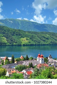 Village of Millstatt am See at Lake Millstatt,carinthia,Austria