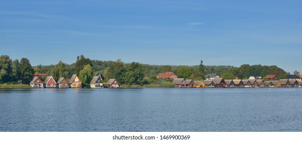 Village of Mirow at Lake Mirower See in Mecklenburg lake district,Germany