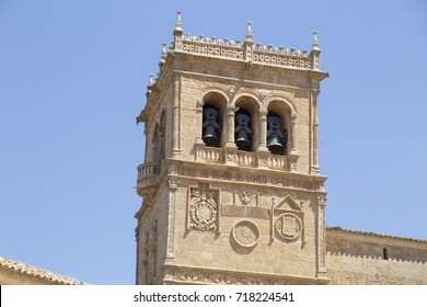 Village of Moron de Almazan, Soria provincia,Castilla y Leon, Spain Asuncion belfry church
