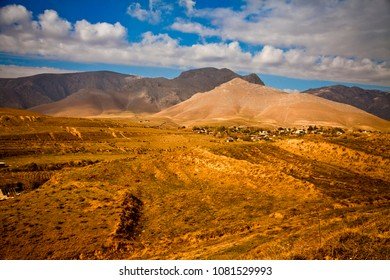 Village in the mountains. Landscapes of Middle Asia (Uzbekistan)
