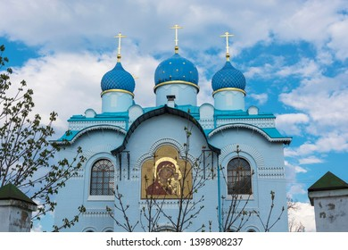 Village Mugreevsky, Yugsky District, Ivanovo Region, Russia - 05/01/2019: Svyatoozersky Iversky Women's Monastery.