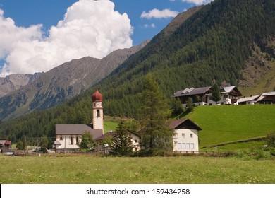 Village of Niederthai in North Tyrol, Austria.