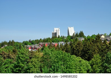Village of Oberhof in thuringian Forest,Thuringia,Germany