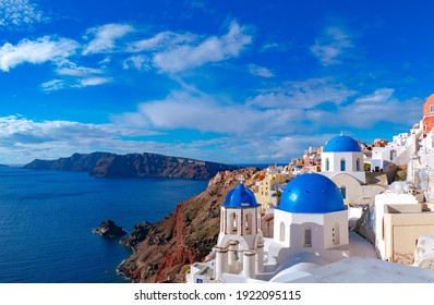 Village Oia on Santorini island Greece
