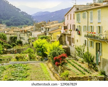 a village with old houses in france